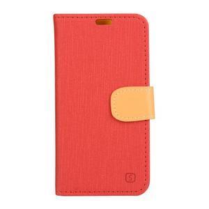 Knížkové puzdro pre mobil Lenovo Vibe Shot - červené - 1
