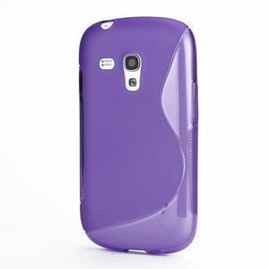 Fialové gélové puzdro pre Samsung Galaxy S3 mini /i8190 - 1