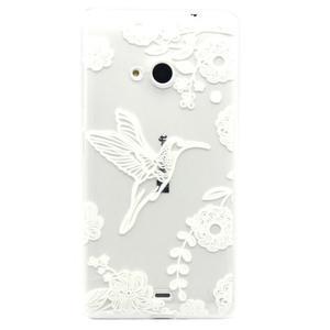 Gélový obal na mobil Microsoft Lumia 535 - ptáček - 1