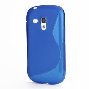 Modré gélové puzdro pre Samsung Galaxy S3 mini /i8190 - 1