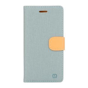 Cloth Textilné/koženkové puzdro pre mobil Lenovo P70 - svetlo modré - 1
