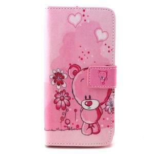 Peneženkové puzdro na mobil LG G4c - medvídek - 1