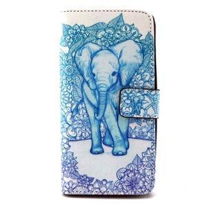 Peneženkové puzdro na mobil LG G4c - slon - 1