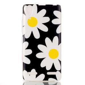 Gélový obal na mobil Lenovo A6000 - květy - 1