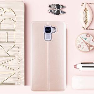 Elegantní PU kožené puzdro na mobil Huawei Honor 7 - rose gold - 1