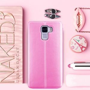 Elegantné PU kožené puzdro pre mobil Huawei Honor 7 - ružové - 1