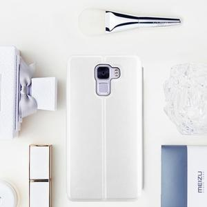 Elegantné PU kožené puzdro pre mobil Huawei Honor 7 - biele - 1
