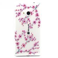 Gélový obal na mobil Microsoft Lumia 535 - květy švestky - 1/3