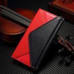 Breck peňaženkové puzdro na Samsung Galaxy S6 - červené/čierné - 1/5
