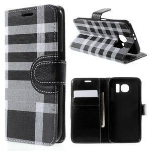 Módní štýlové puzdro na Samsung Galaxy S6 - čierné - 1