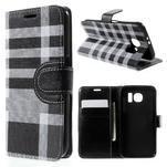 Módní štýlové puzdro na Samsung Galaxy S6 - čierné - 1/6