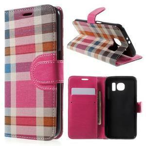 Módní štýlové puzdro na Samsung Galaxy S6 - rose - 1