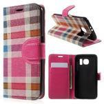 Módní štýlové puzdro na Samsung Galaxy S6 - rose - 1/7