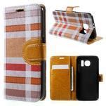 Módní štýlové puzdro na Samsung Galaxy S6 - oranžové - 1/7