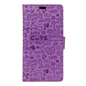 Cartoo pouzdro na mobil Honor 7 Lite - fialové - 1