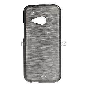 Broušený gélový obal na HTC One mini 2 - čierny - 1