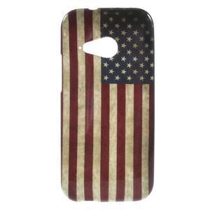Gélový kryt pre HTC One mini 2 - US vlajka - 1