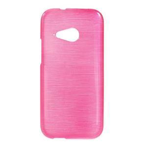Broušený gélový obal pre HTC One mini 2 - rose - 1