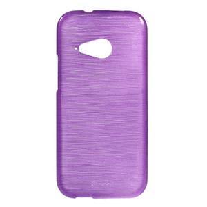 Broušený gélový obal na HTC One mini 2 - fialový - 1