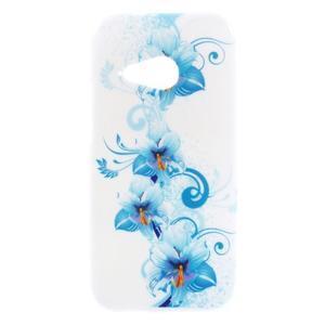 Gélový kryt pre HTC One mini 2 - modrá lilie - 1