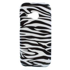 Gélový kryt pre HTC One mini 2 - zebra - 1