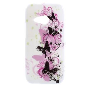 Gélový kryt na HTC One mini 2 - motýlci - 1