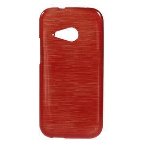 Broušený gélový obal na HTC One mini 2 - červený - 1