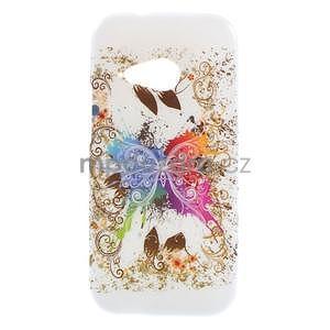 Gélový kryt pre HTC One mini 2 - barevní motýľci - 1