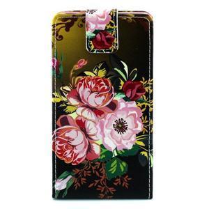 Flipové puzdro pre Huawei Ascend P8 - kvitnúce kvety - 1