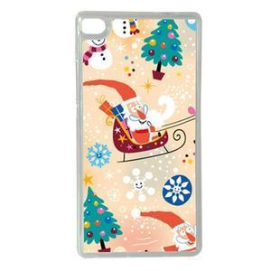 Vánoční edice gélových obalů na Huawei Ascend P8 - Santa - 1