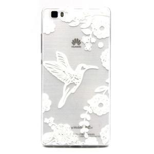 Transparentní gelový obal na Huawei Ascend P8 Lite - ptáček - 1