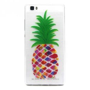 Transparentní gelový obal na Huawei Ascend P8 Lite - ananas - 1