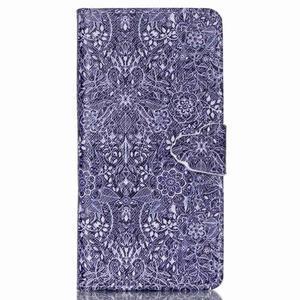Puzdro na mobil Huawei P8 Lite - textury květin - 1