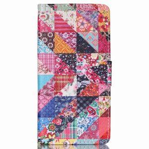 Puzdro na mobil Huawei P8 Lite - koláž trojúhelníčků - 1