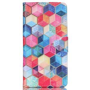 Puzdro pre mobil Huawei P8 Lite - farebné hexagony - 1