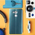 Vintage PU kožené puzdro na mobil Huawei Mate 8 - modré - 1/2
