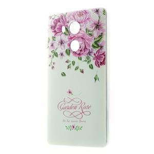 Softy gelový obal na mobil Huawei Mate 8 - růže - 1