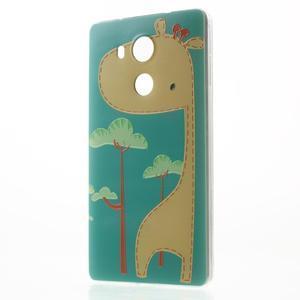 Softy gelový obal na mobil Huawei Mate 8 - žirafa - 1