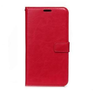 Peňaženkové puzdro na Huawei Mate 8 - červené - 1
