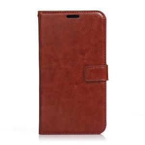 Peňaženkové puzdro na Huawei Mate 8 - hnedé - 1