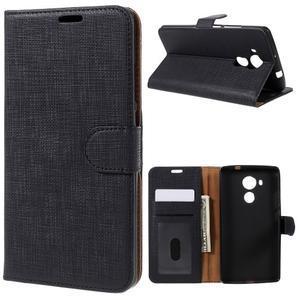 Clothy PU kožené puzdro na Huawei Mate 8 - čierne - 1