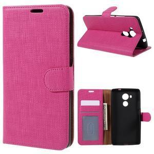Clothy PU kožené puzdro na Huawei Mate 8 - rose - 1