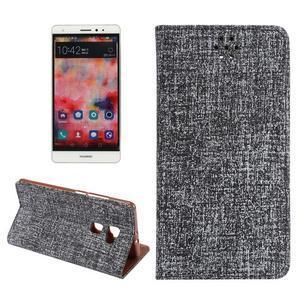 Style knižkové puzdro na mobil Huawei Mate S - čierne - 1