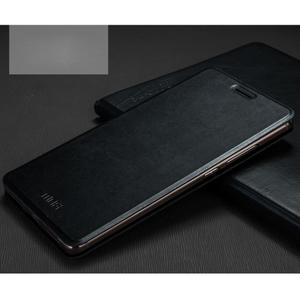 Vintage PU kožené puzdro s kovovou výstuhou na Huawei Mate S - čierne - 1
