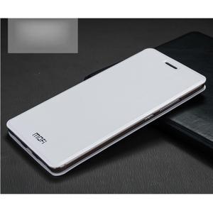 Vintage PU kožené pouzdro s kovovou výstuhou na Huawei Mate S - bílé - 1
