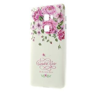 Softy gelový obal na mobil Huawei Mate S - růže - 1