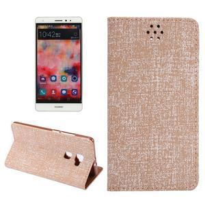Style knížkové pouzdro na mobil Huawei Mate S - oranžovohnědé - 1