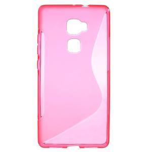 S-line gelový obal na mobil Huawei Mate S - rose - 1