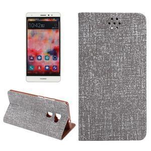 Style knížkové pouzdro na mobil Huawei Mate S - šedé - 1
