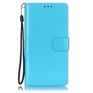Magicfly knížkové pouzdro na telefon Huawei P9 Lite - světlemodré - 1